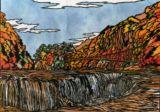 吹割の滝(群馬)Fukiwari Watar fall (Gunma)