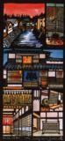 日本の商屋(テキストスタイルデザイン)Japanese Merchant Shops